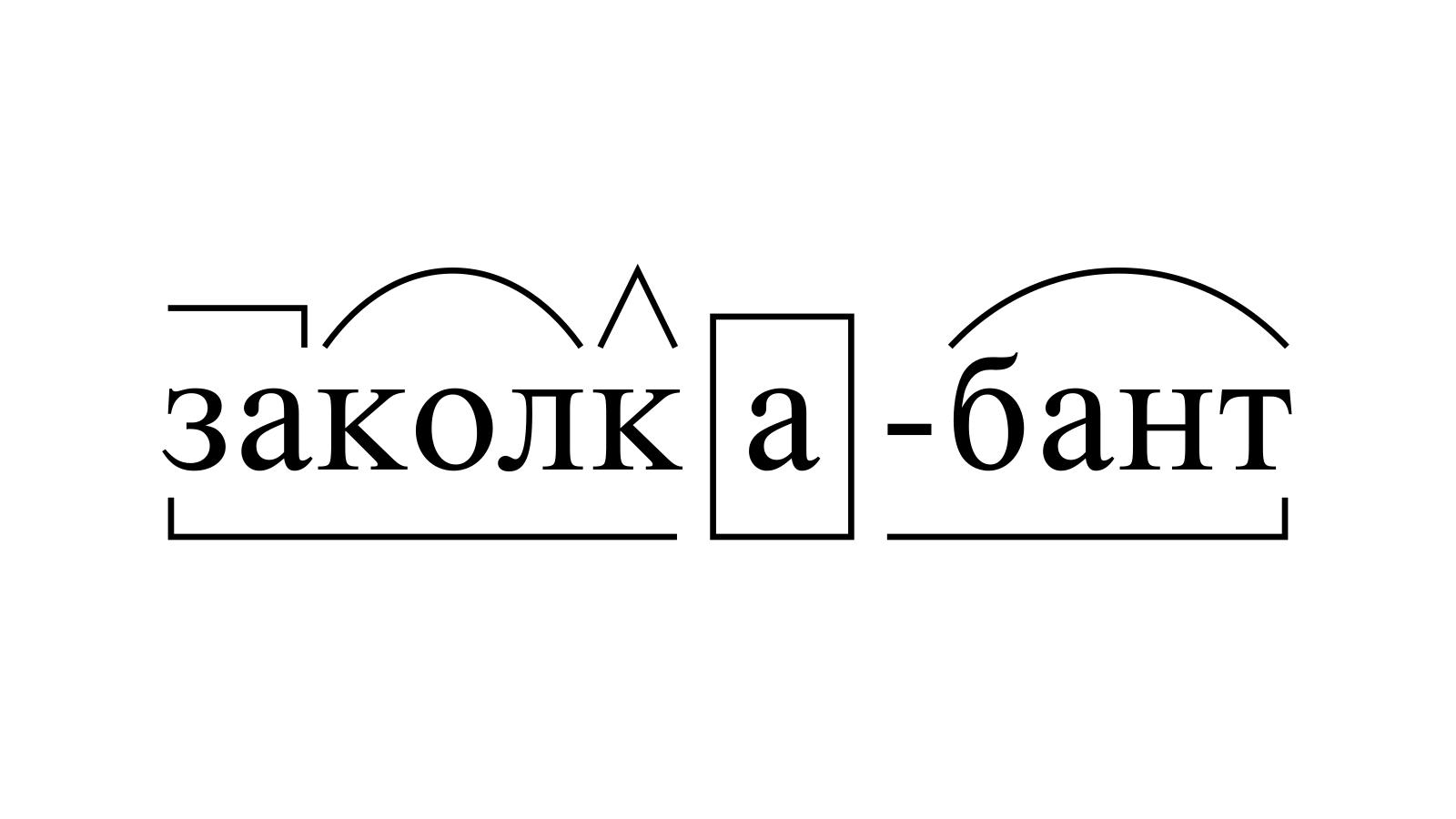 Разбор слова «заколка-бант» по составу