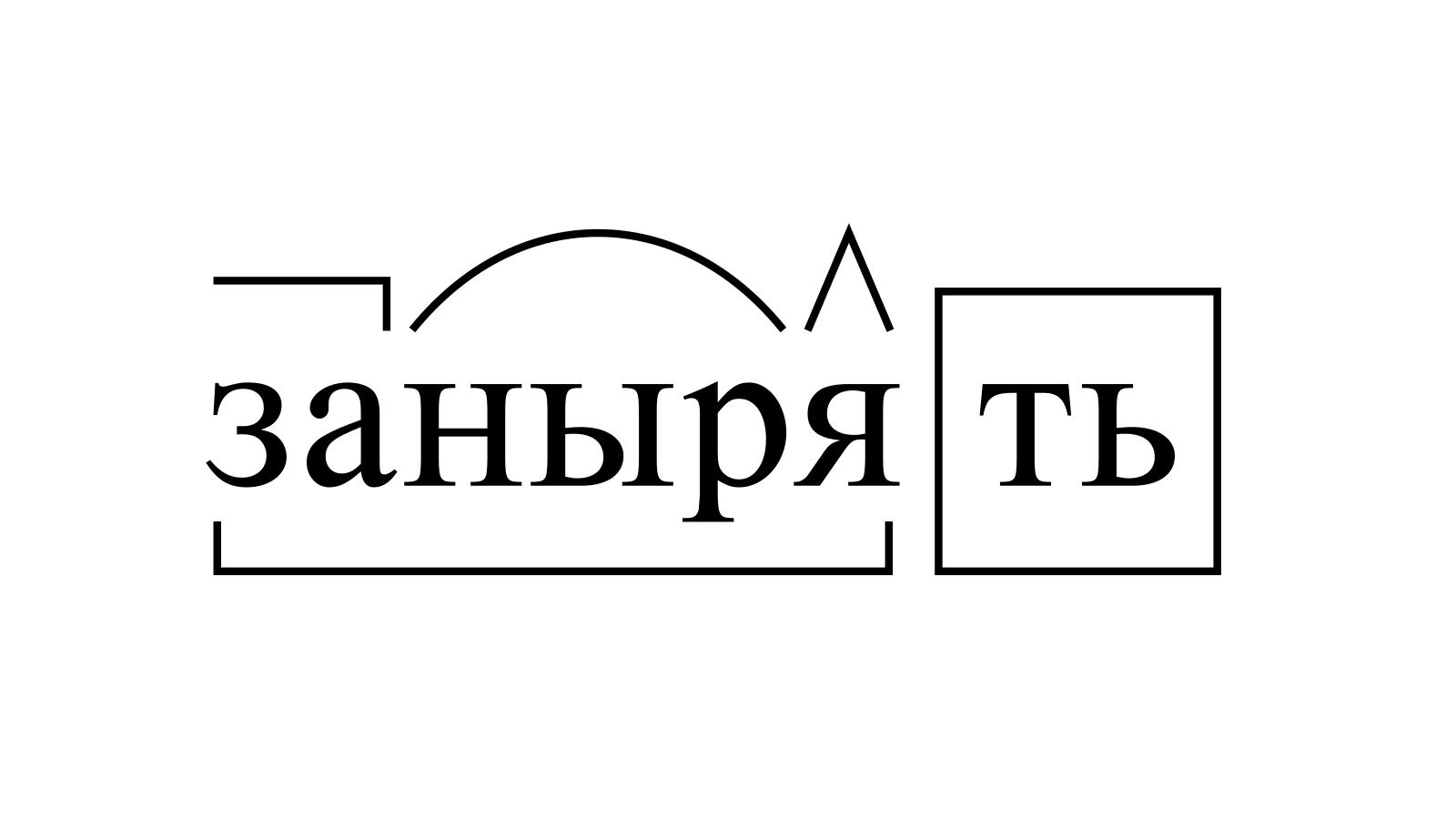 Разбор слова «занырять» по составу