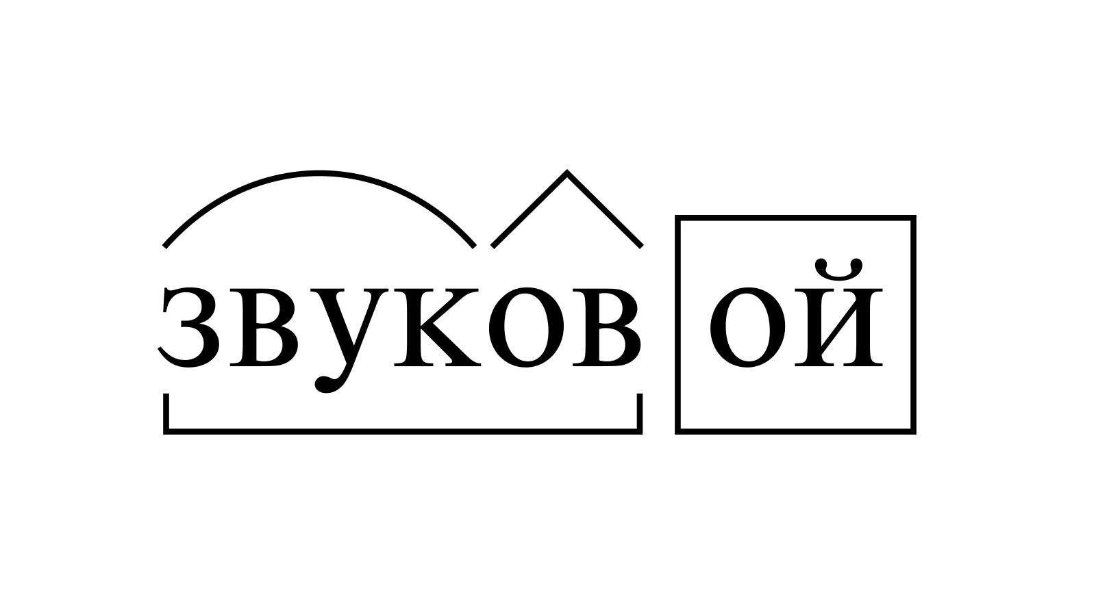 Разбор слова «звуковой» по составу