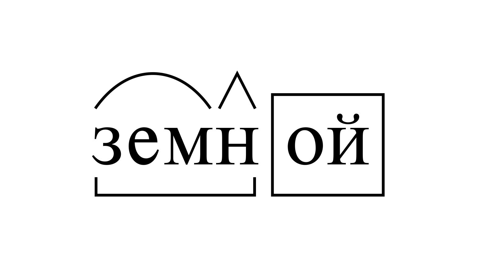 Разбор слова «земной» по составу
