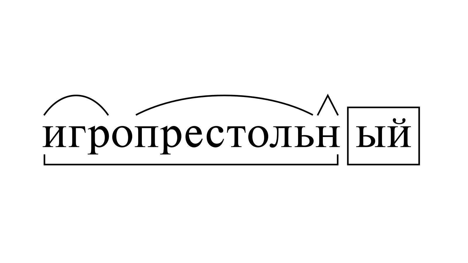 Разбор слова «игропрестольный» по составу