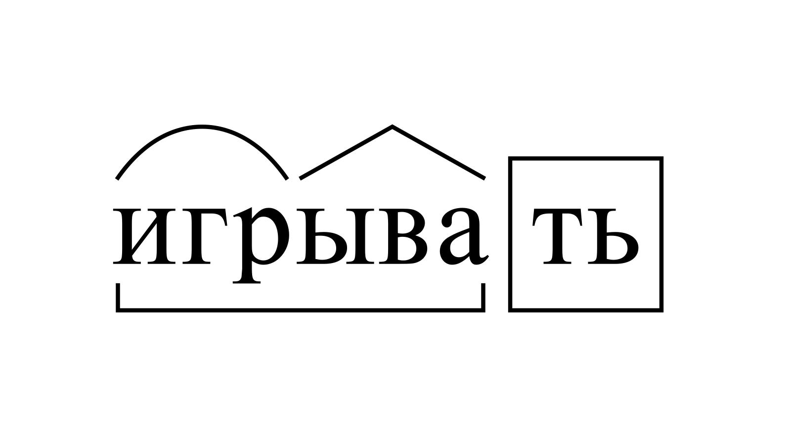 Разбор слова «игрывать» по составу