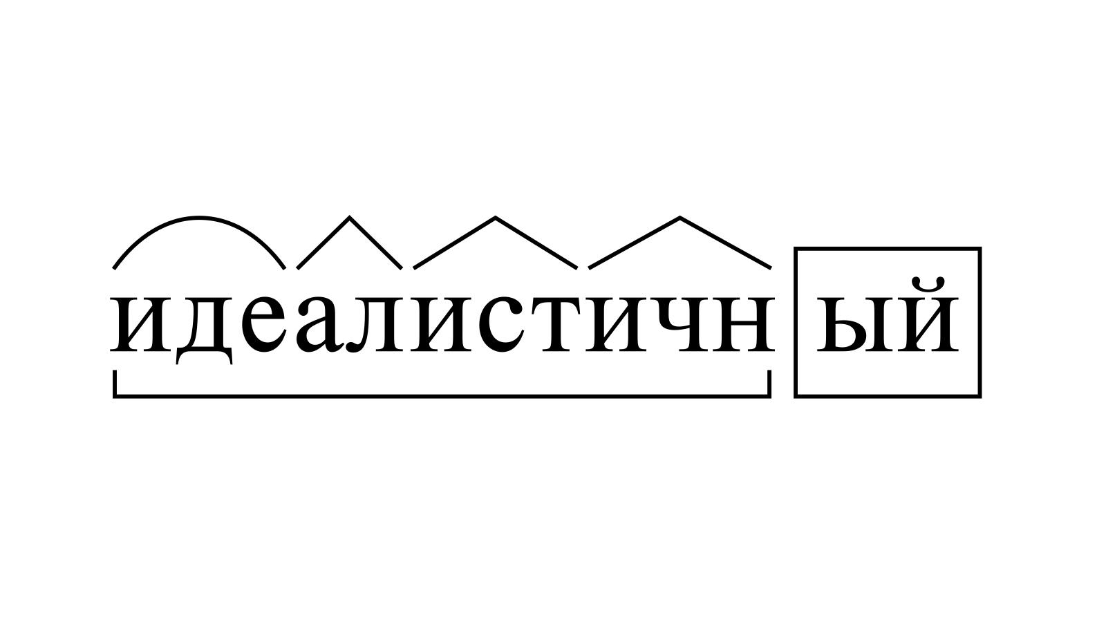 Разбор слова «идеалистичный» по составу