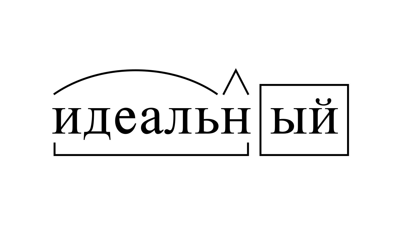 Разбор слова «идеальный» по составу