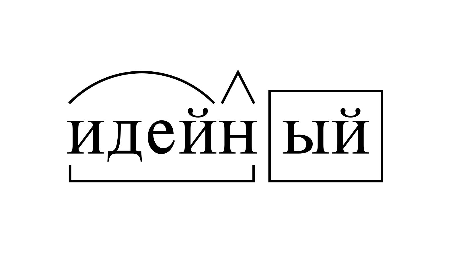 Разбор слова «идейный» по составу