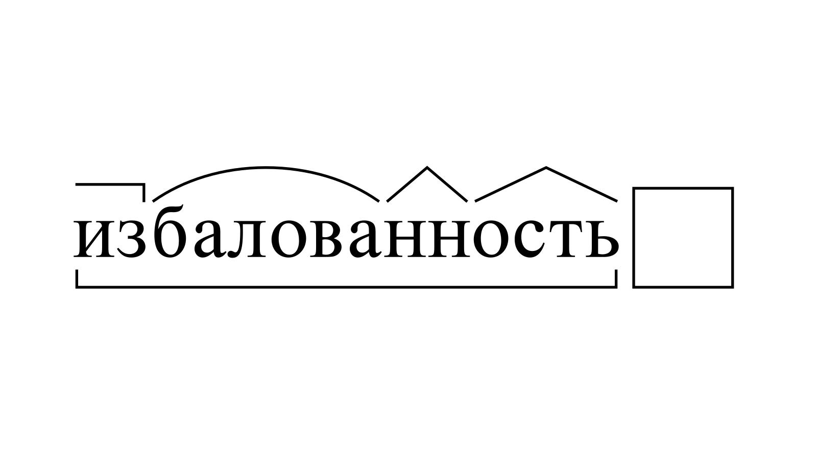 Разбор слова «избалованность» по составу