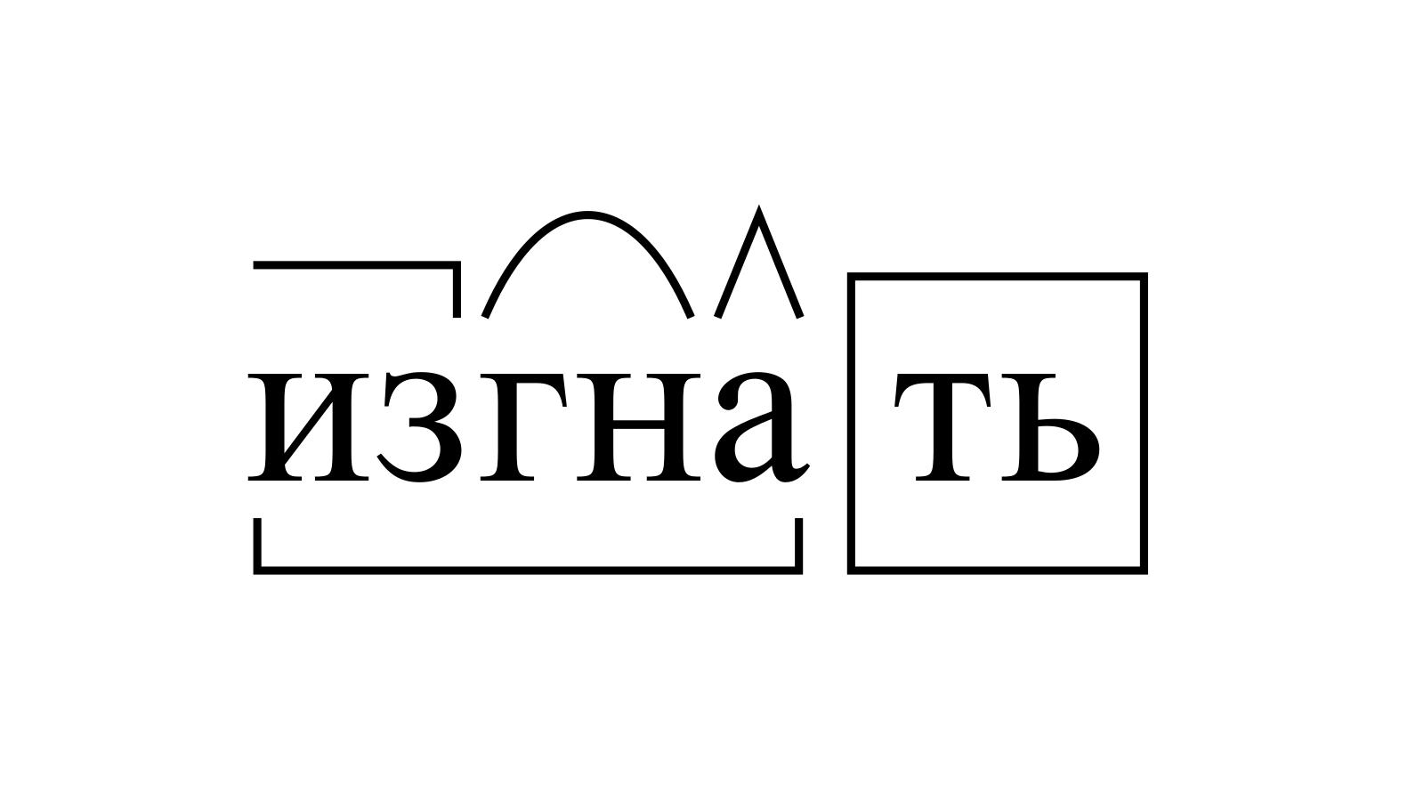 Разбор слова «изгнать» по составу