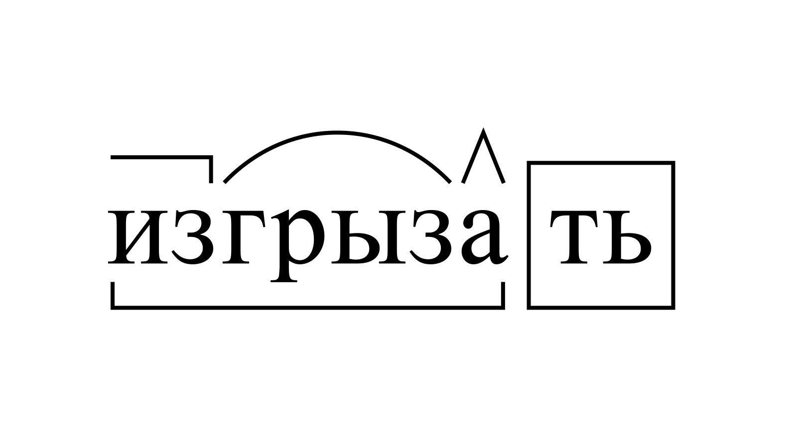Разбор слова «изгрызать» по составу