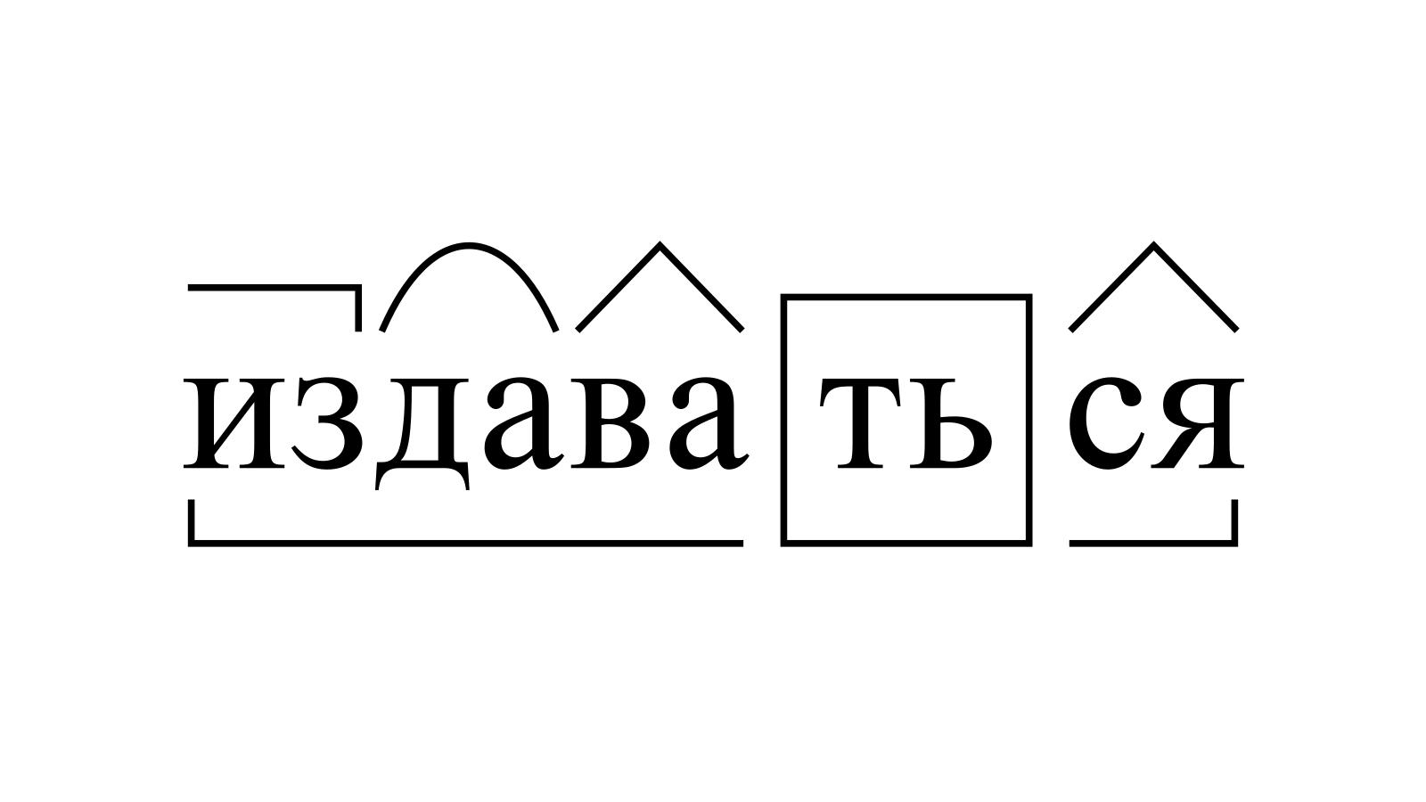 Разбор слова «издаваться» по составу