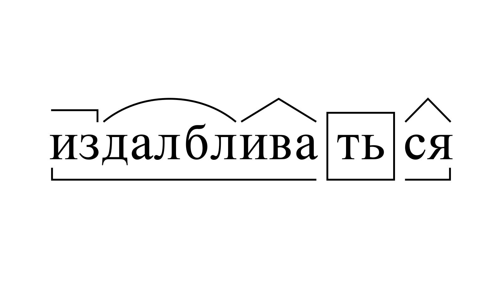 Разбор слова «издалбливаться» по составу