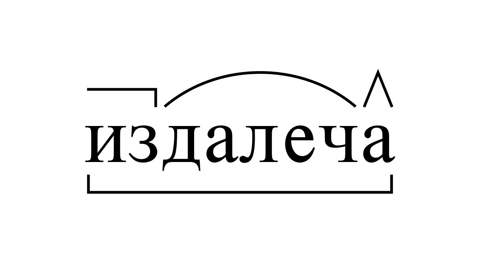 Разбор слова «издалеча» по составу