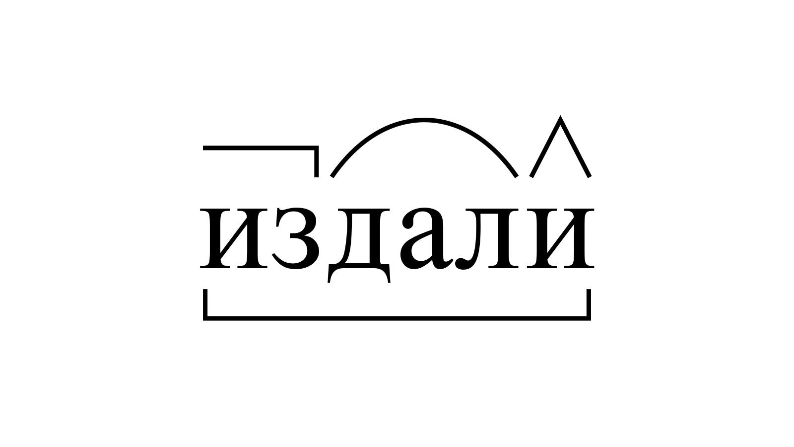 Разбор слова «издали» по составу