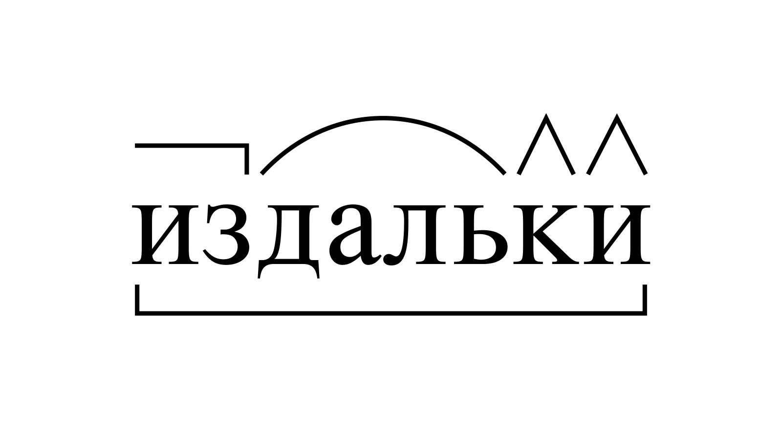 Разбор слова «издальки» по составу