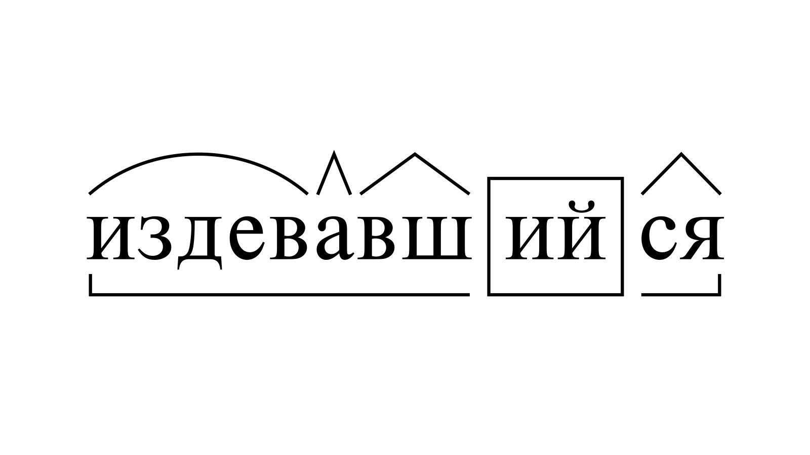 Разбор слова «издевавшийся» по составу