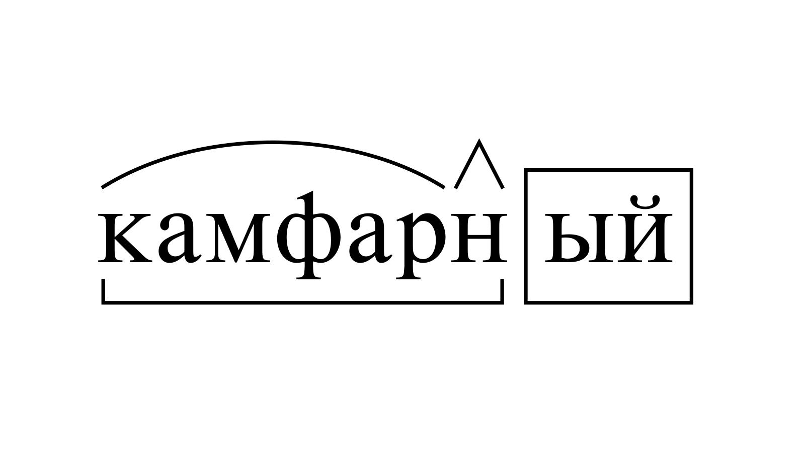 Разбор слова «камфарный» по составу