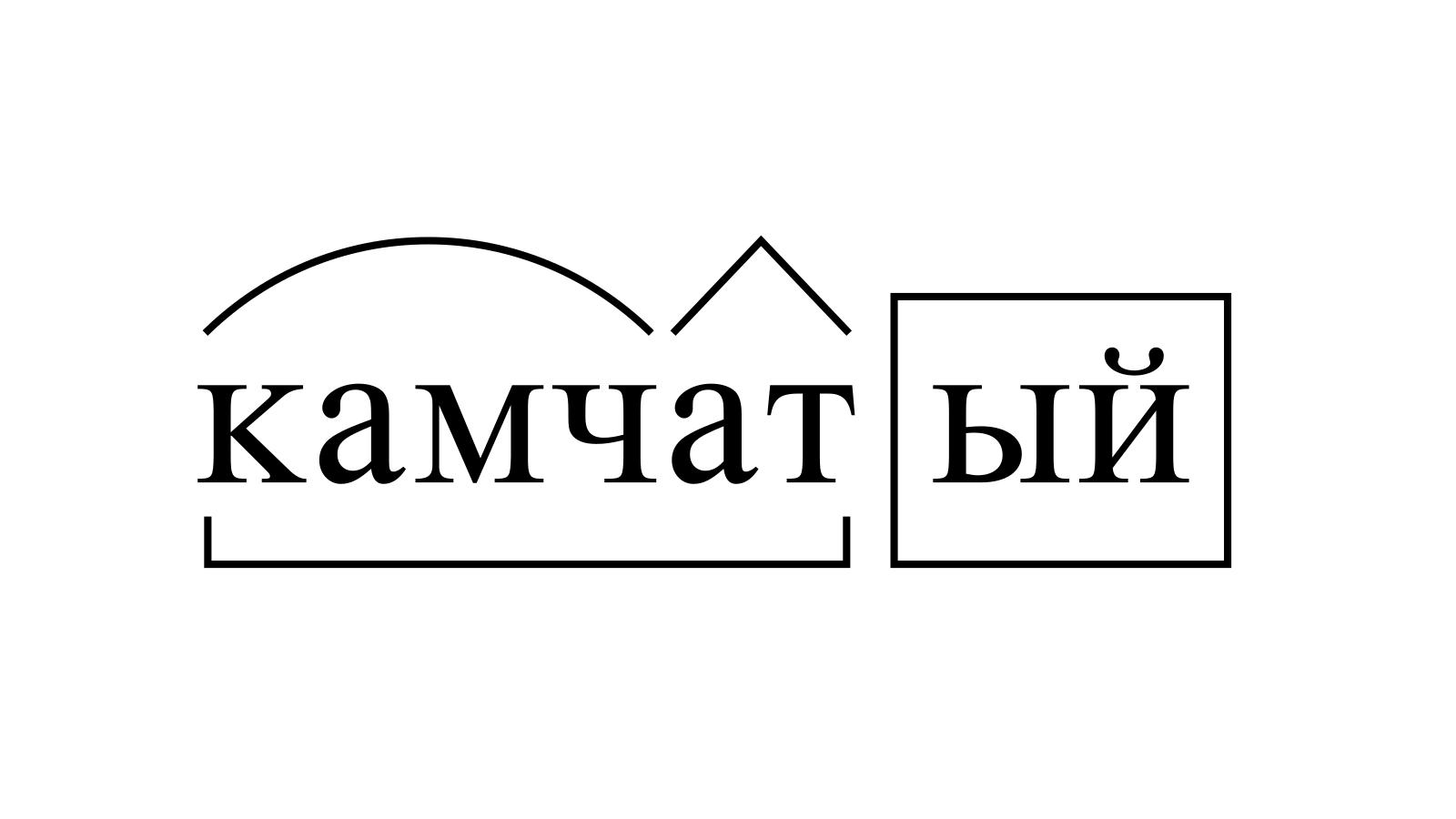 Разбор слова «камчатый» по составу