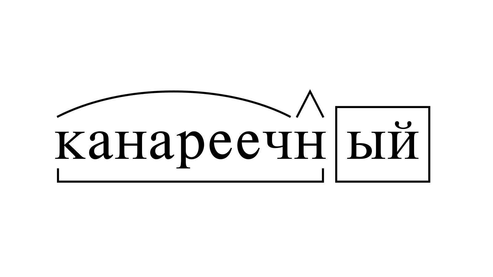 Разбор слова «канареечный» по составу