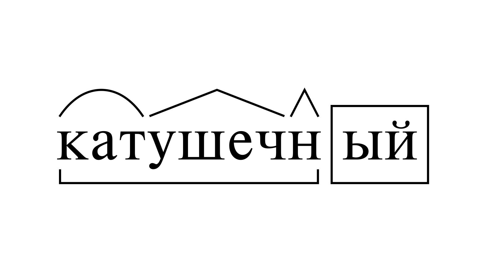 Разбор слова «катушечный» по составу