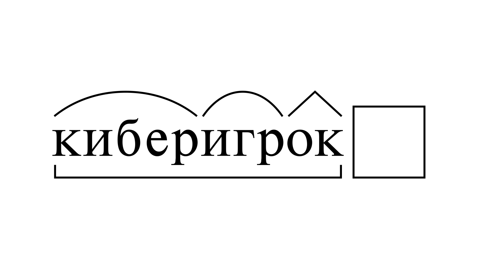 Разбор слова «киберигрок» по составу