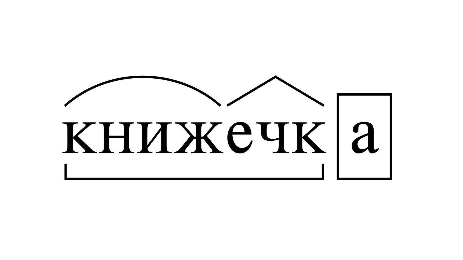 Разбор слова «книжечка» по составу