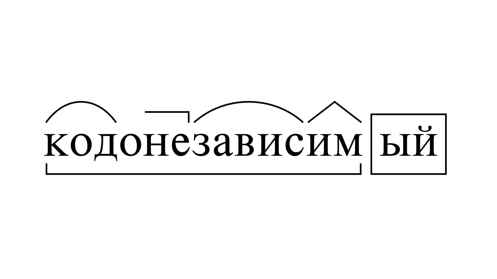 Разбор слова «кодонезависимый» по составу
