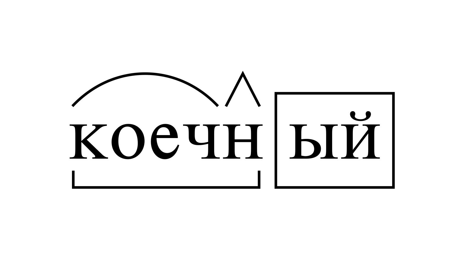 Разбор слова «коечный» по составу