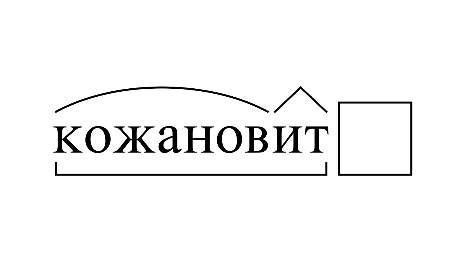 Разбор слова «кожановит» по составу