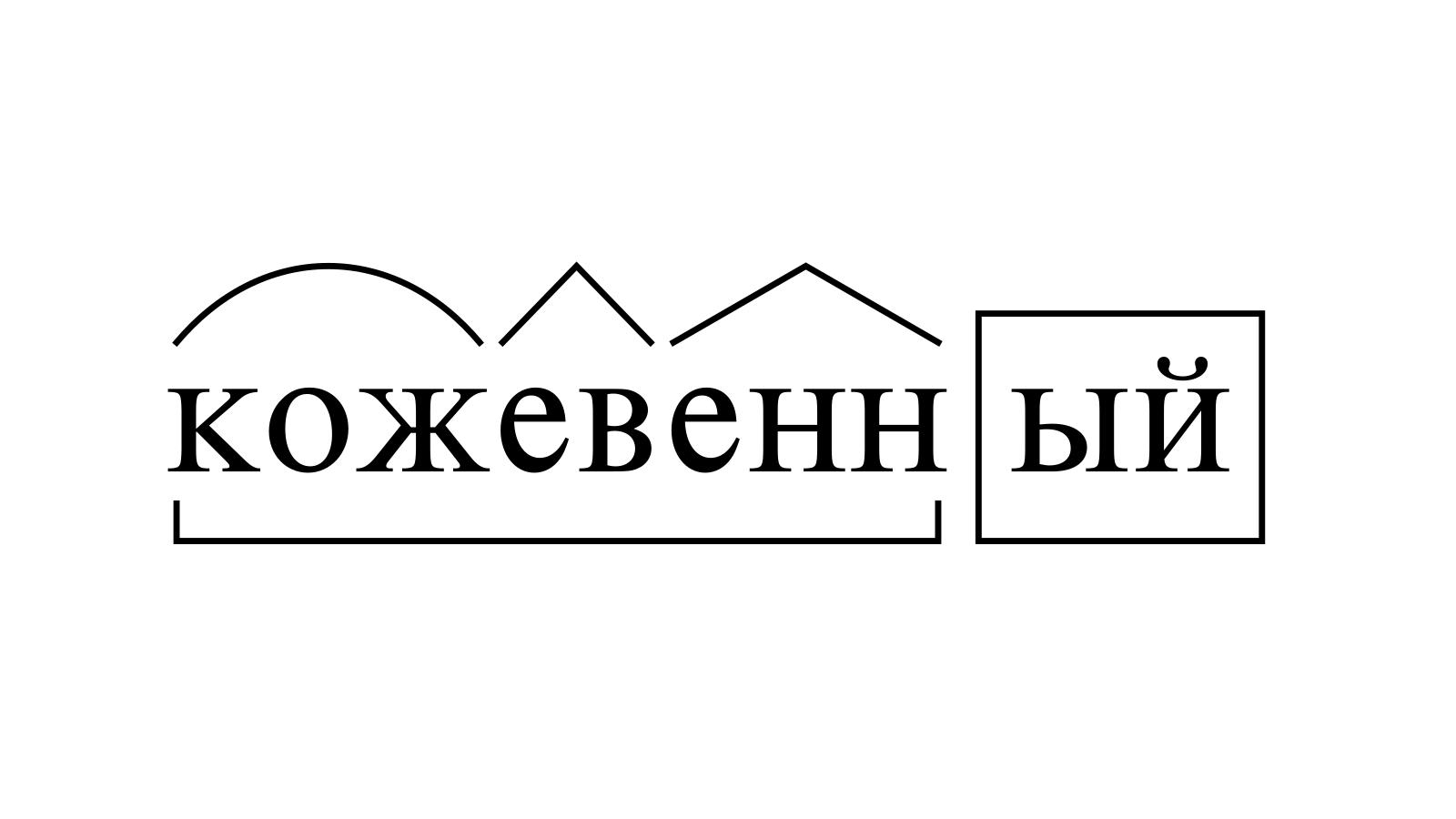 Разбор слова «кожевенный» по составу