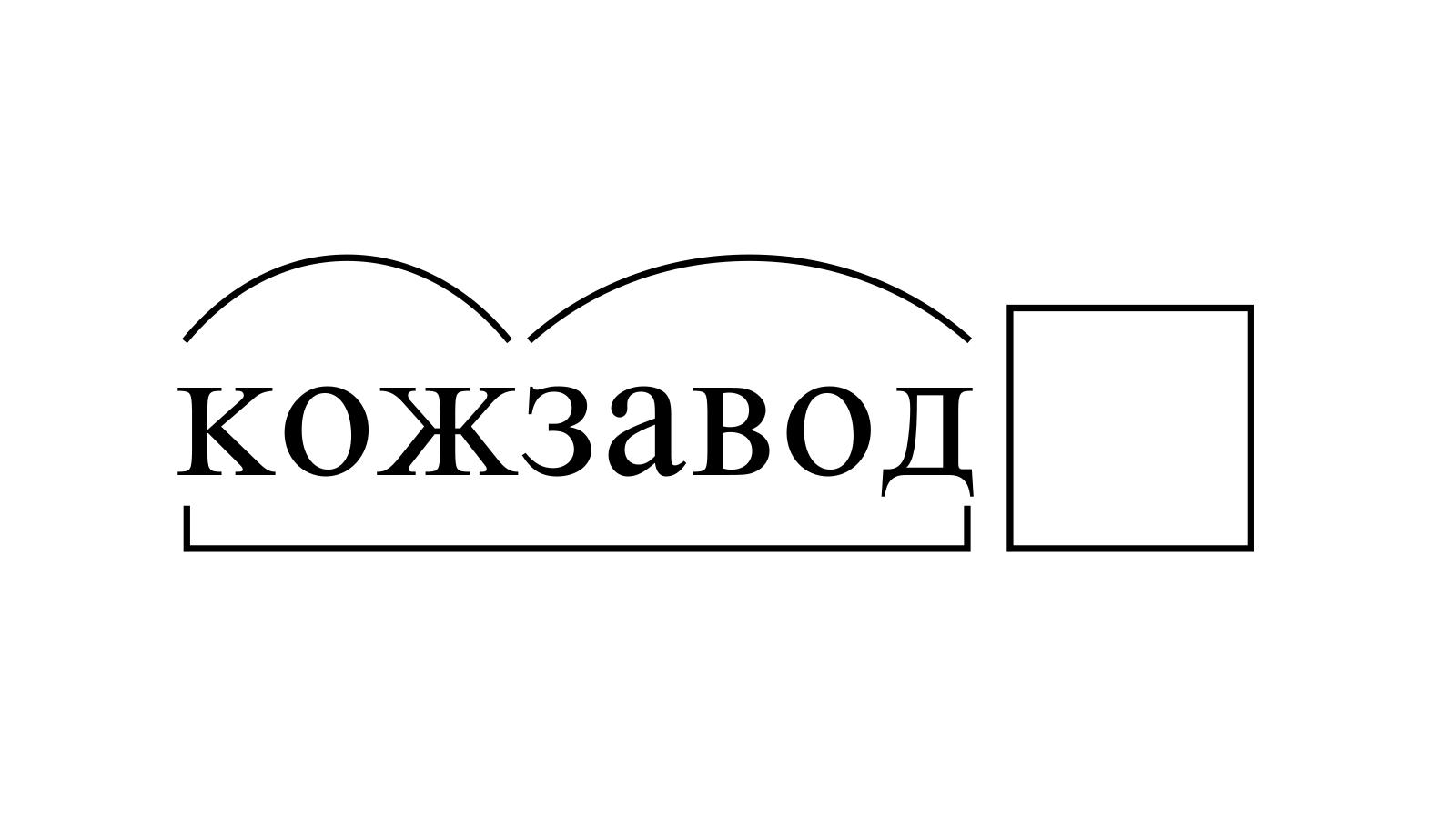Разбор слова «кожзавод» по составу