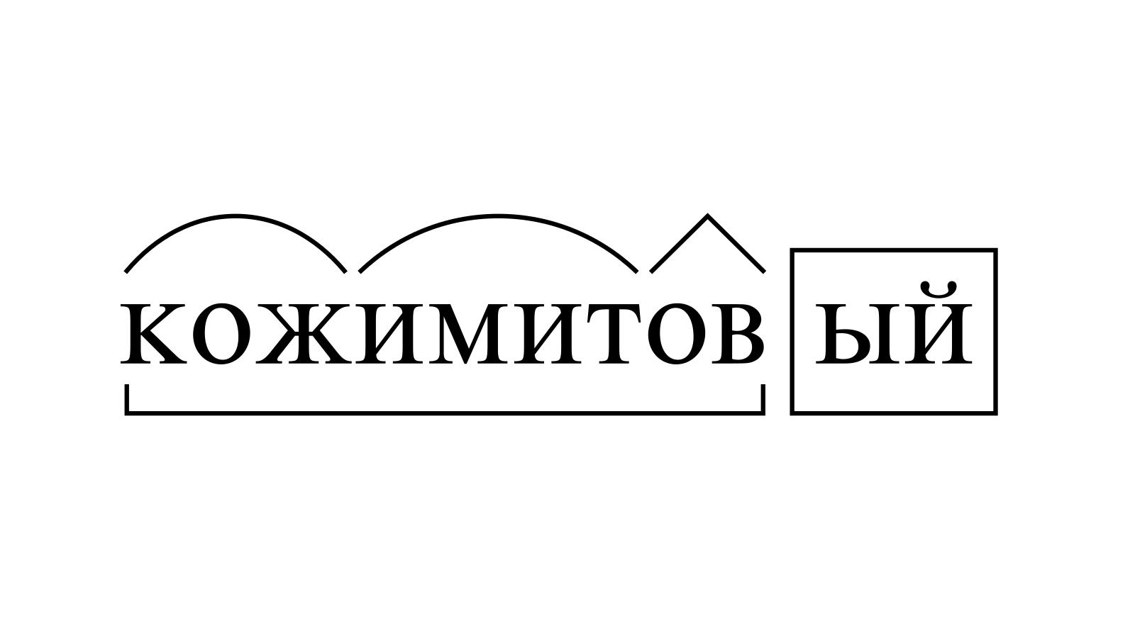 Разбор слова «кожимитовый» по составу