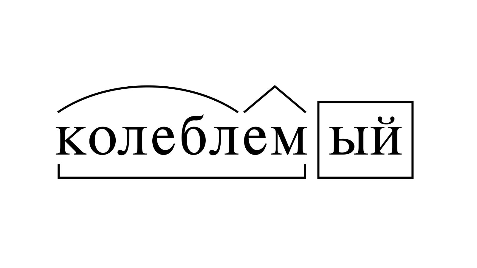 Разбор слова «колеблемый» по составу