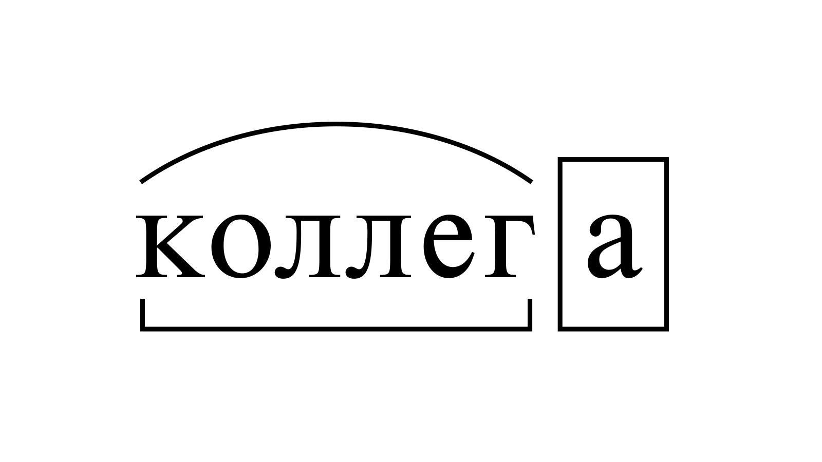 Разбор слова «коллега» по составу
