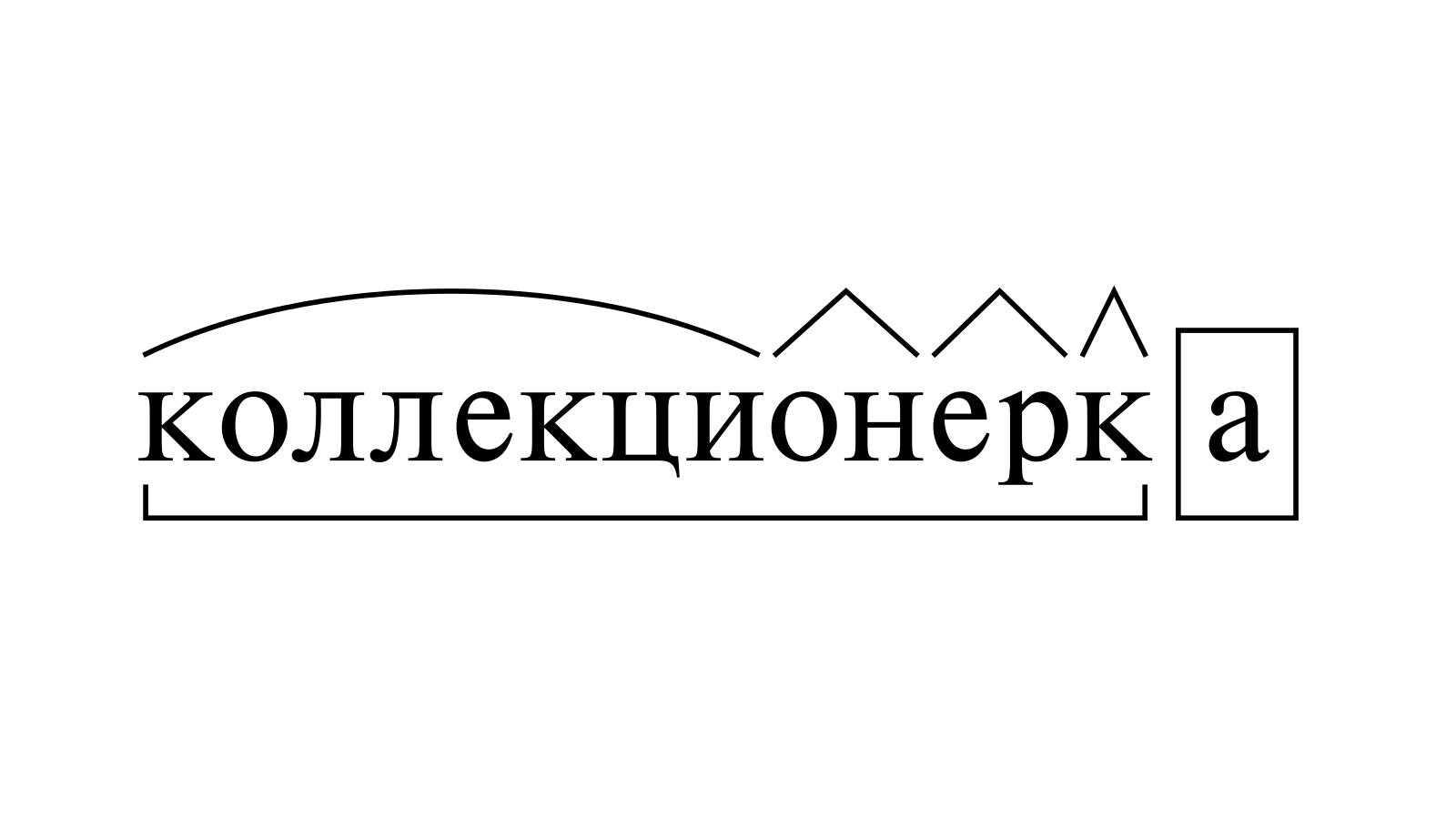 Разбор слова «коллекционерка» по составу
