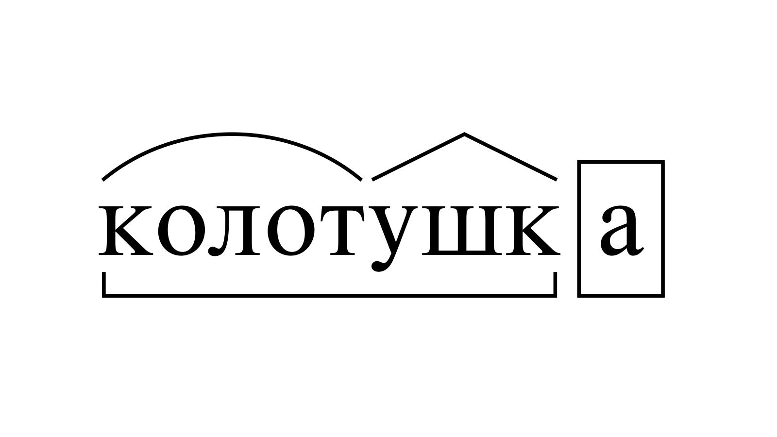 Разбор слова «колотушка» по составу