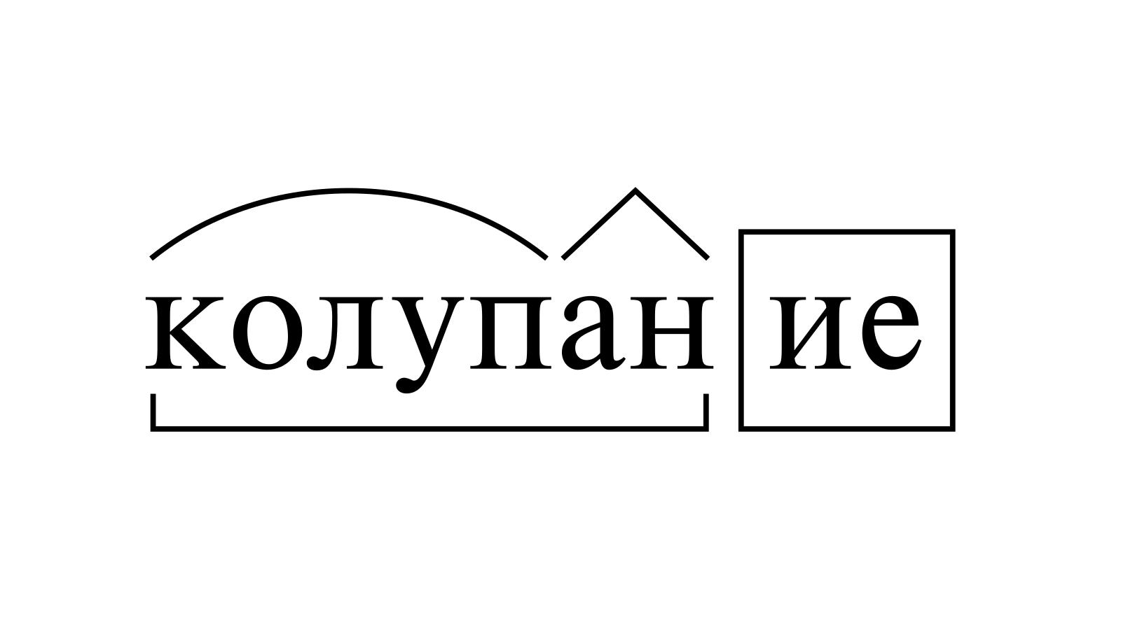 Разбор слова «колупание» по составу