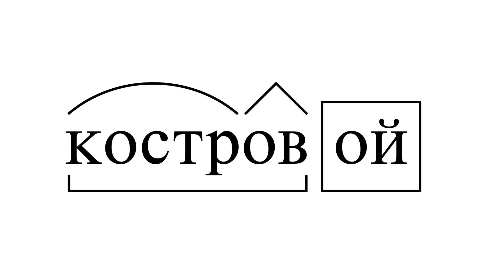 Разбор слова «костровой» по составу