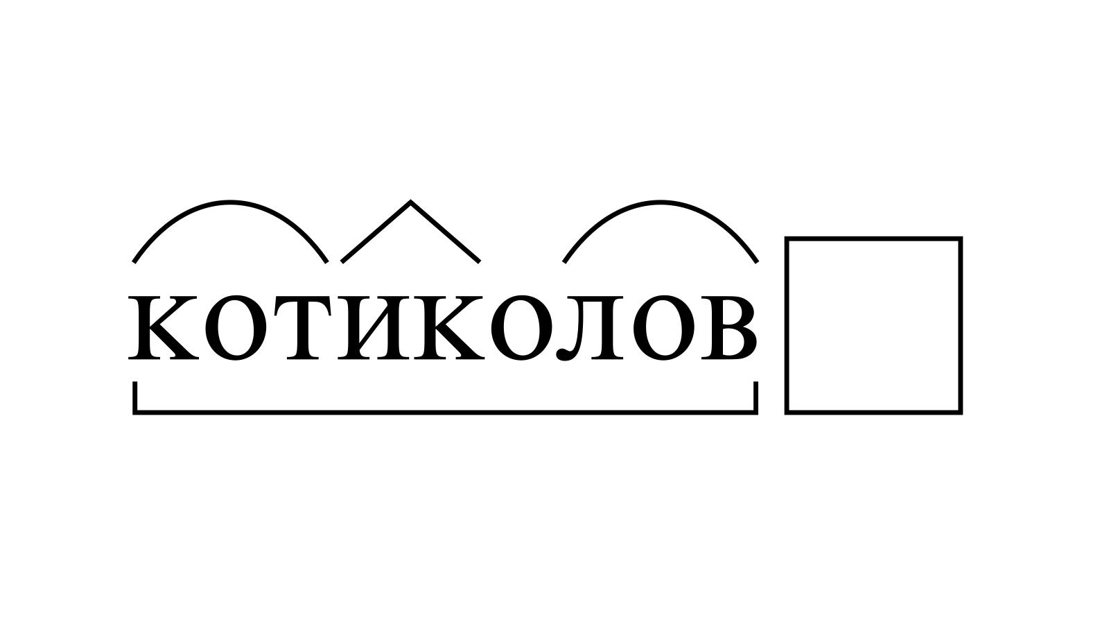 Разбор слова «котиколов» по составу