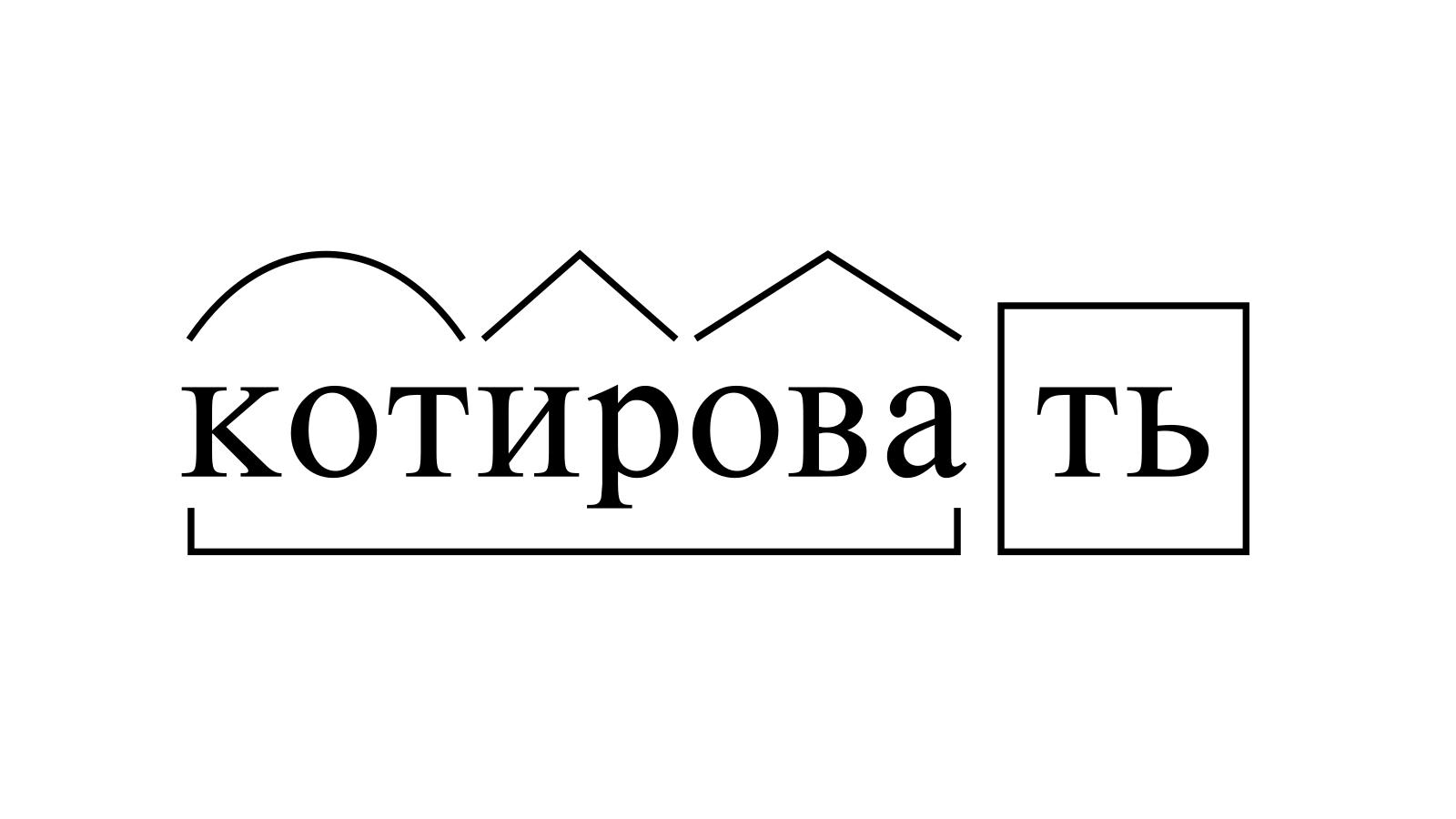 Разбор слова «котировать» по составу