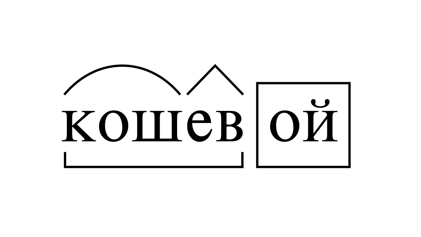 Разбор слова «кошевой» по составу