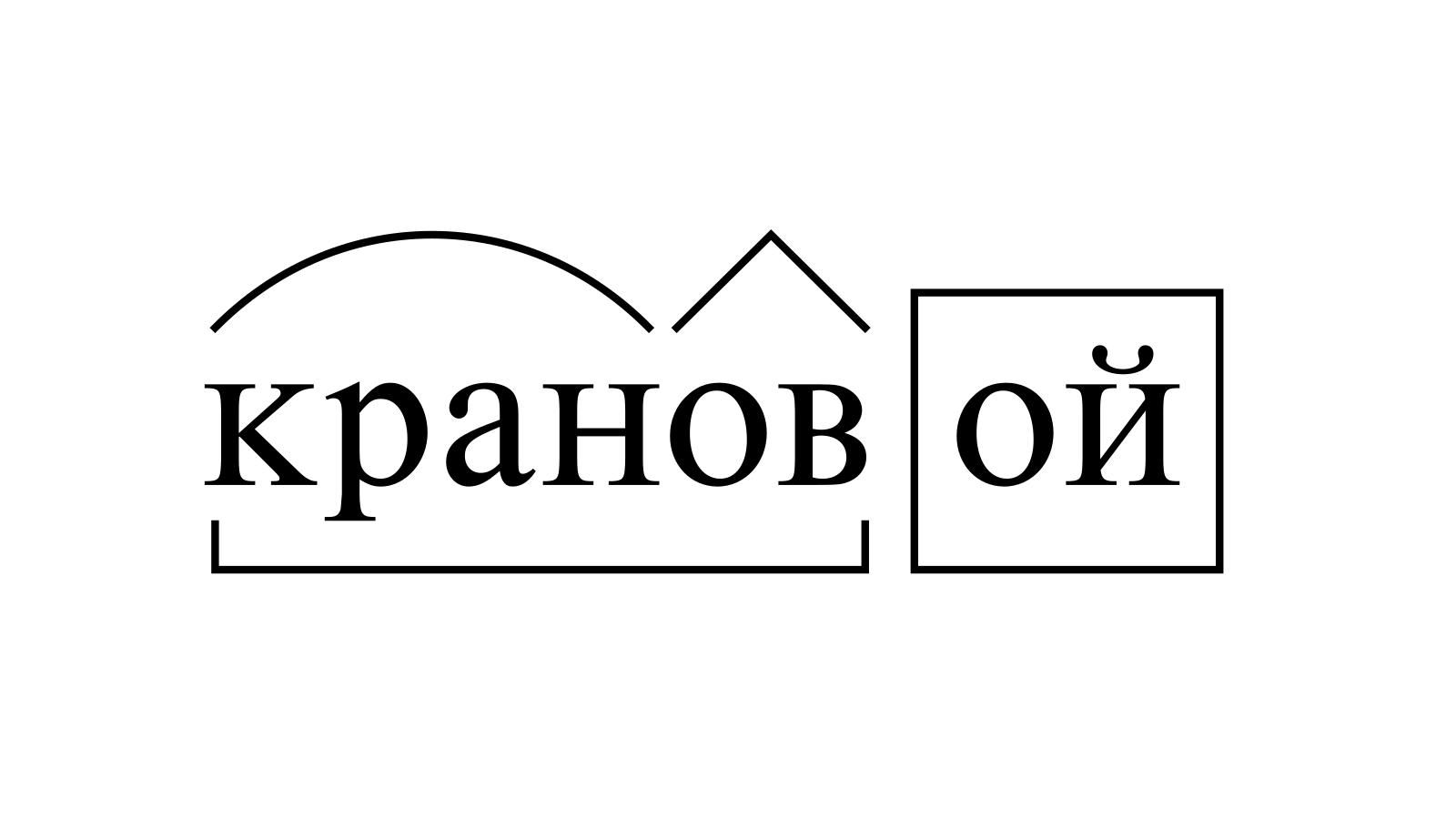 Разбор слова «крановой» по составу