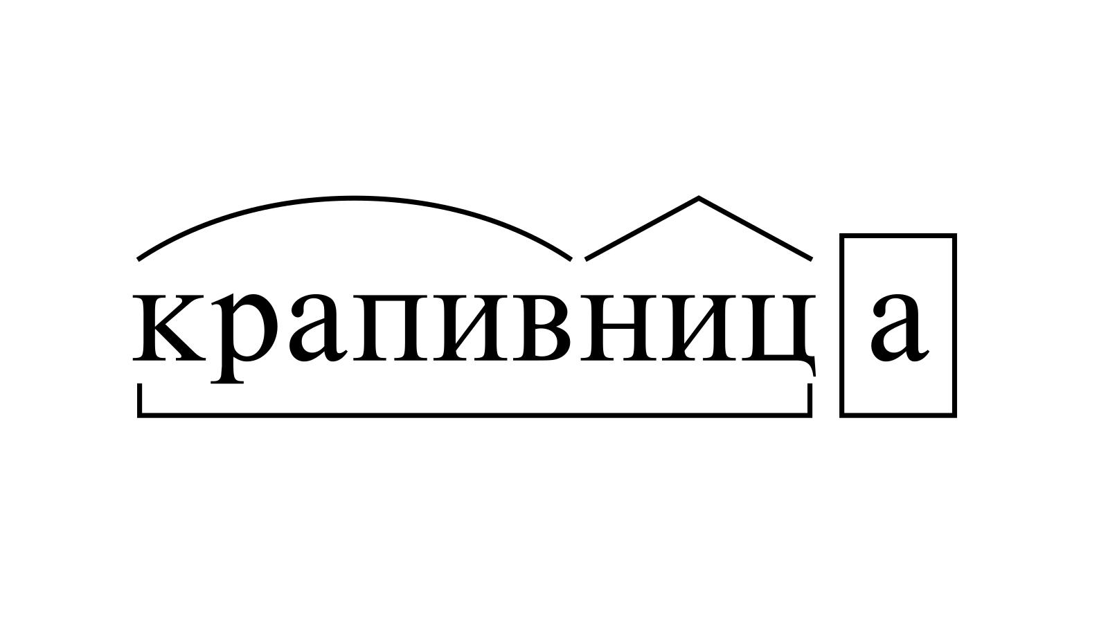 Разбор слова «крапивница» по составу