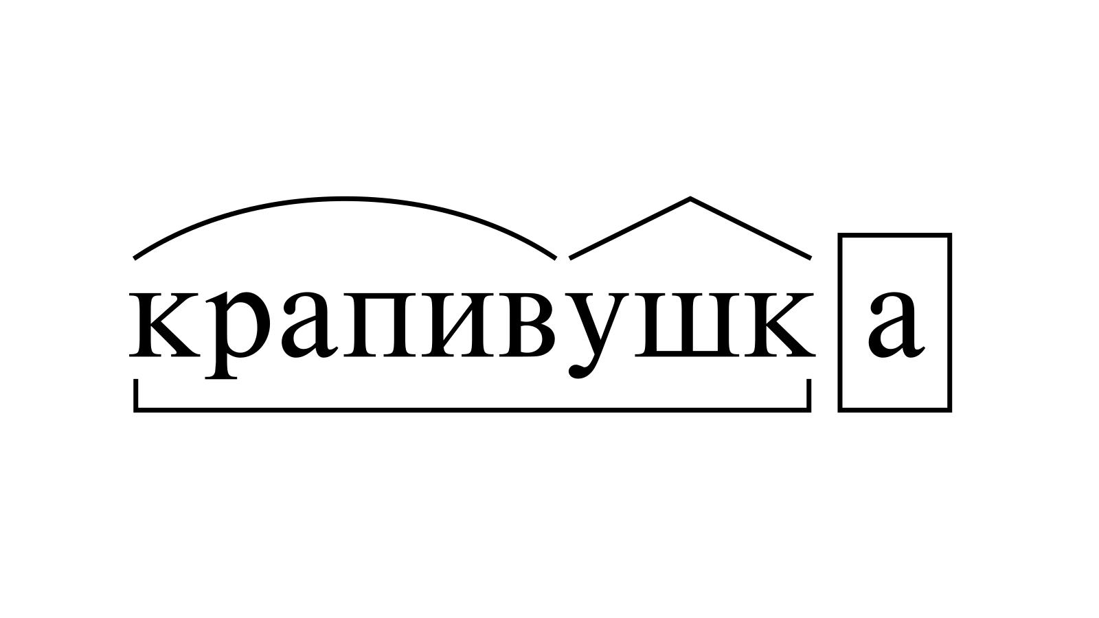 Разбор слова «крапивушка» по составу