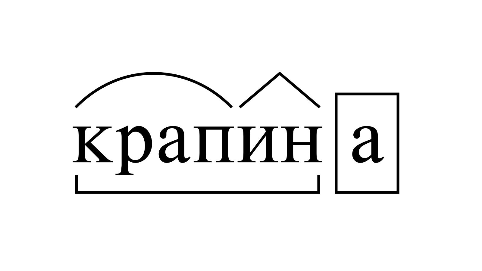 Разбор слова «крапина» по составу