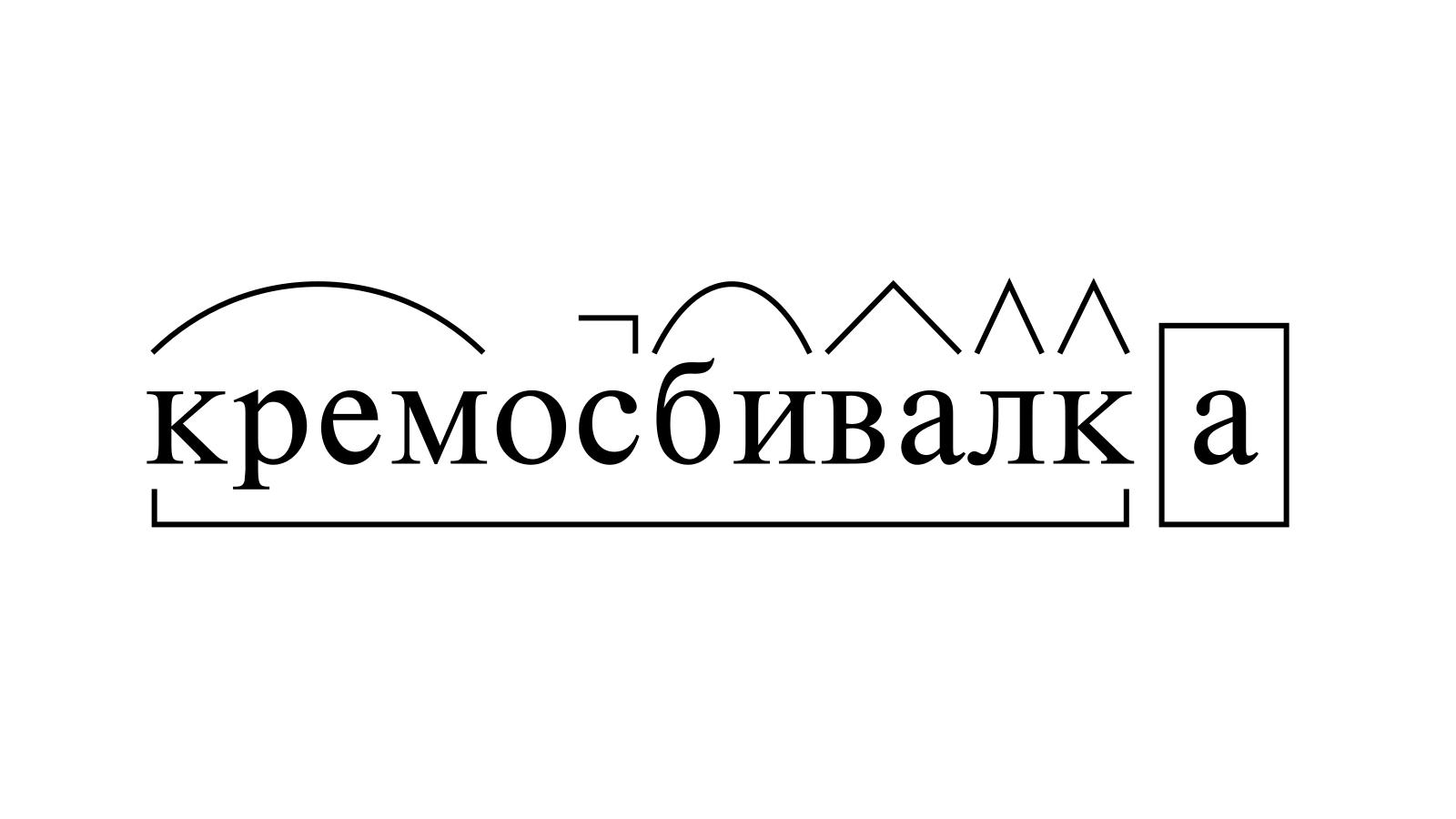 Разбор слова «кремосбивалка» по составу