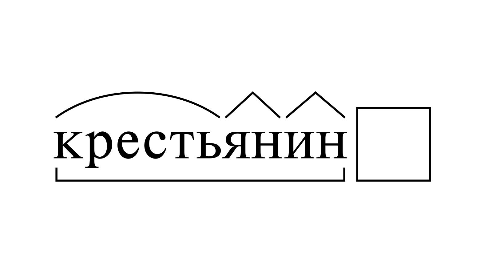 Разбор слова «крестьянин» по составу