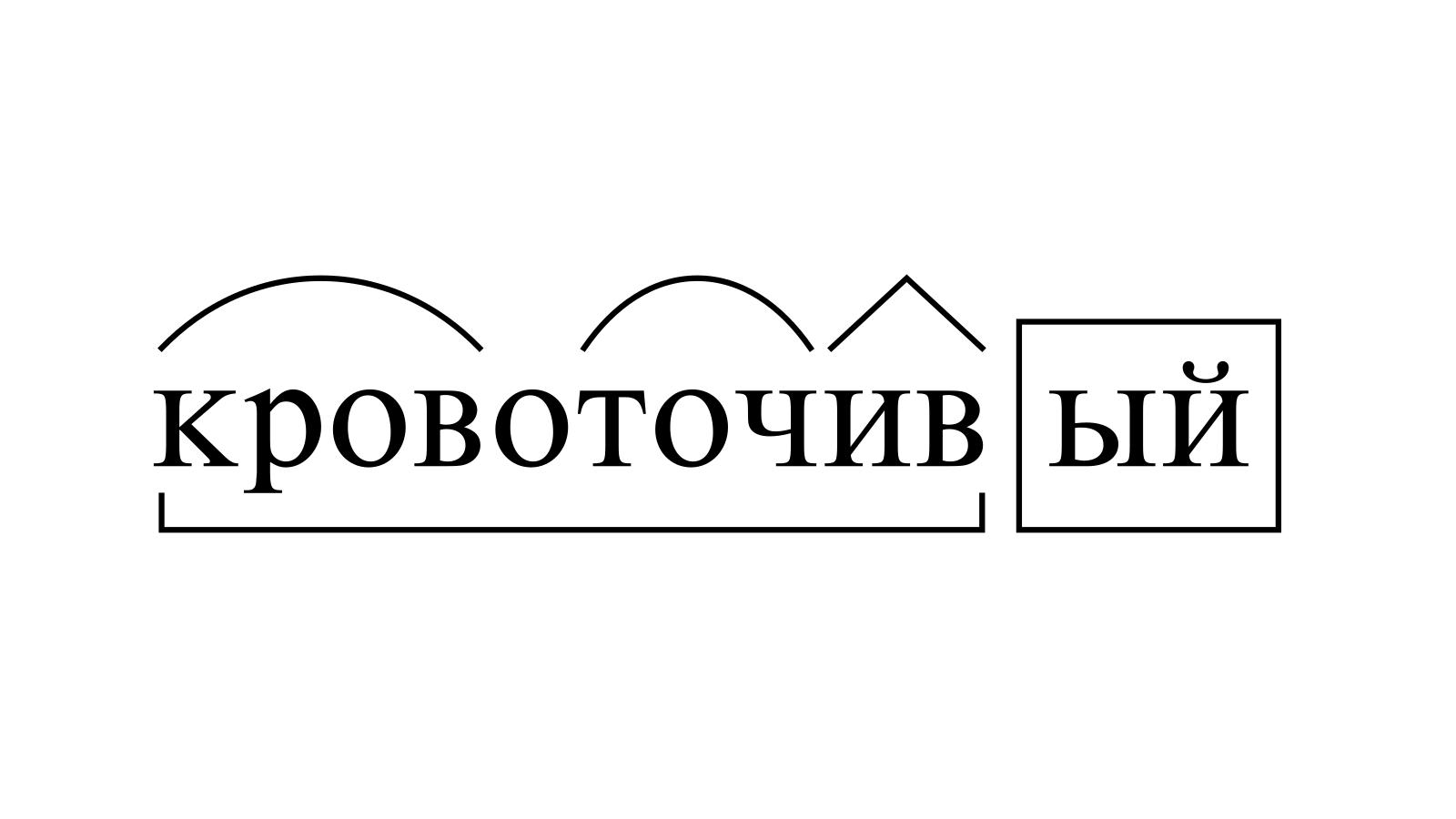 Разбор слова «кровоточивый» по составу