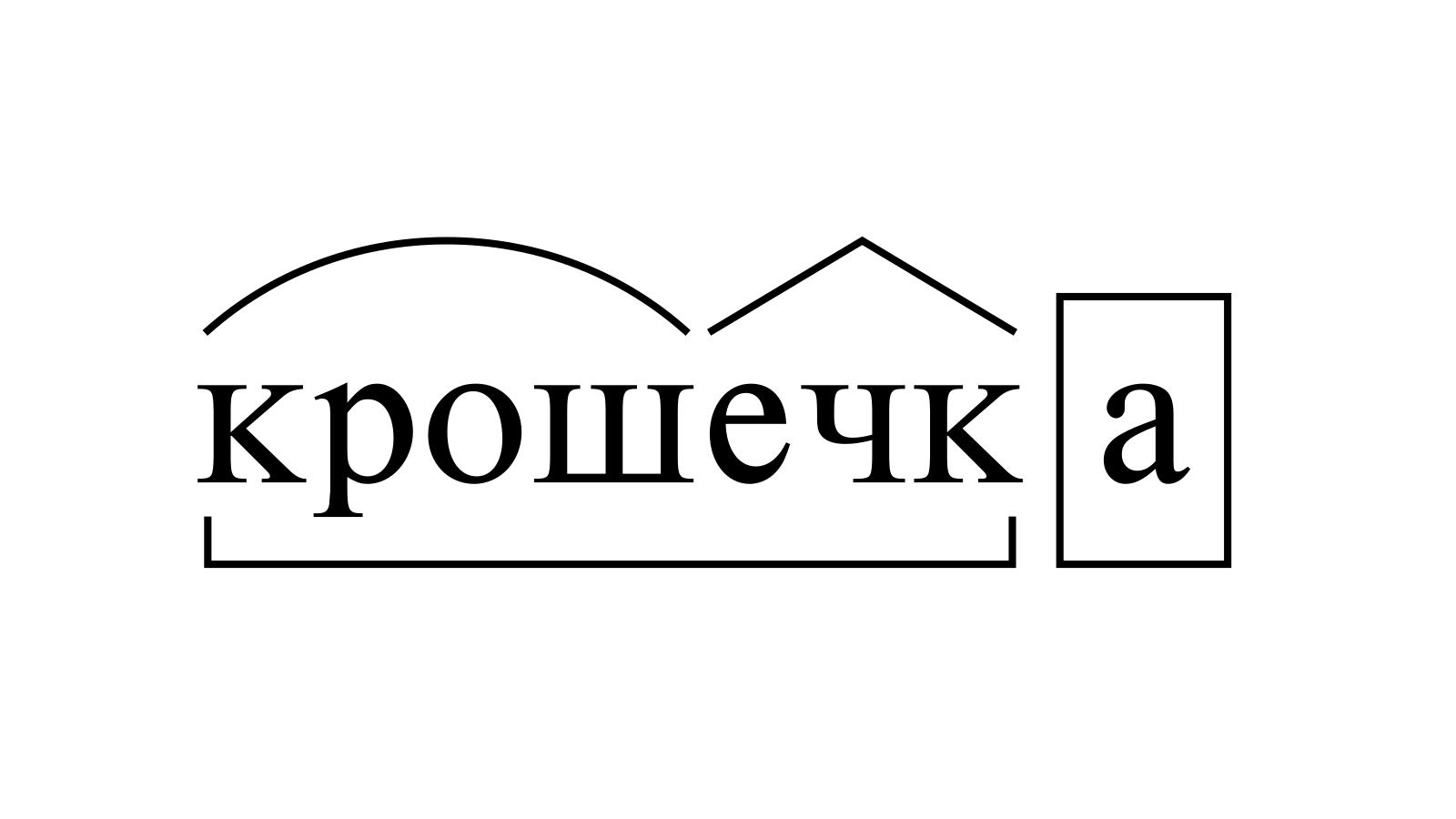 Разбор слова «крошечка» по составу