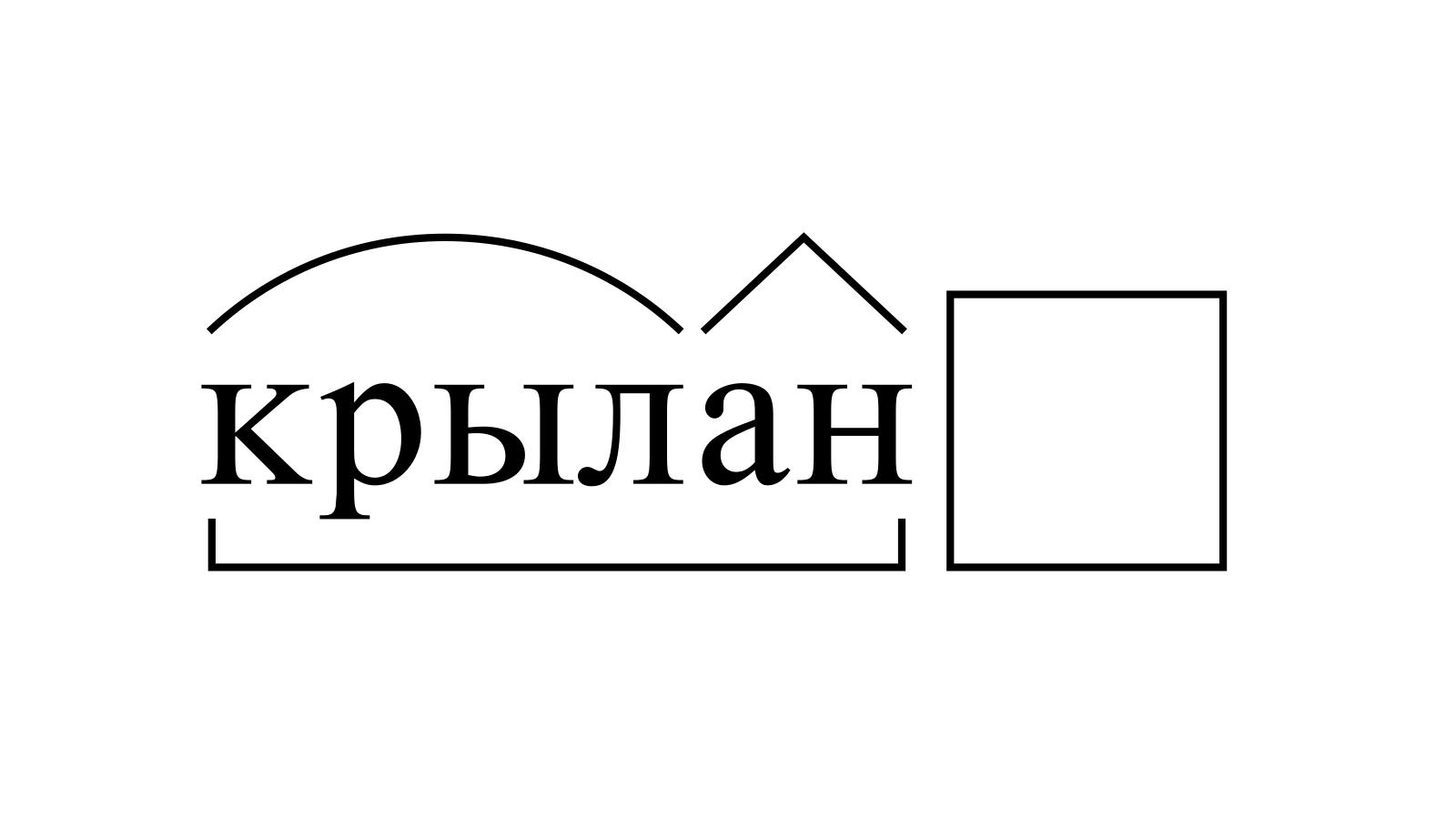 Разбор слова «крылан» по составу