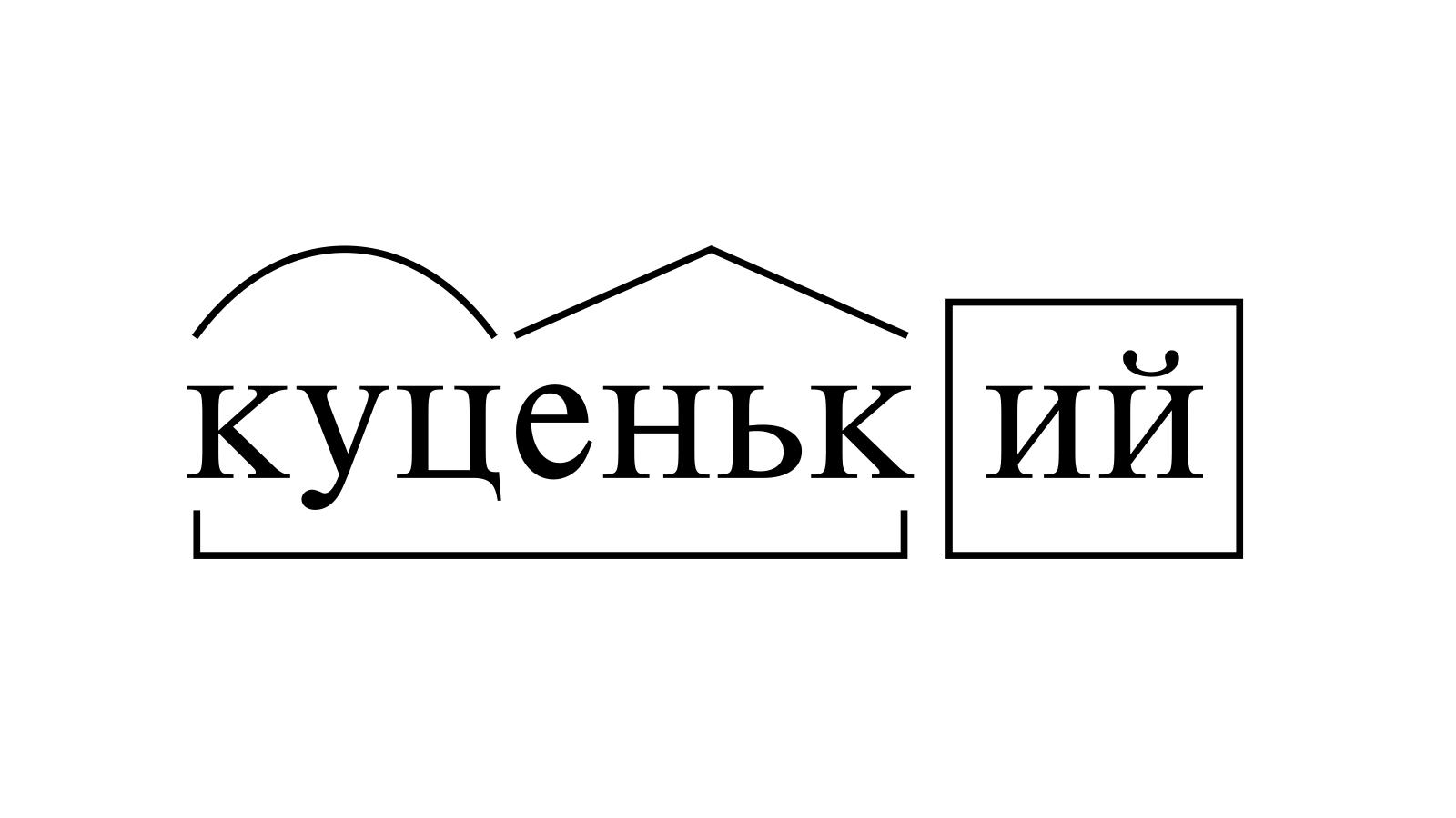 Разбор слова «куценький» по составу