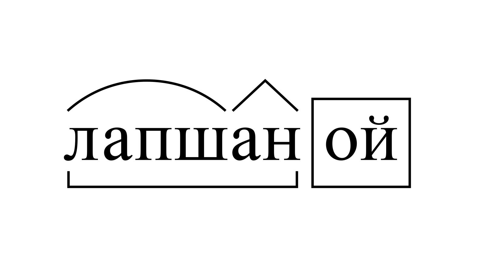 Разбор слова «лапшаной» по составу